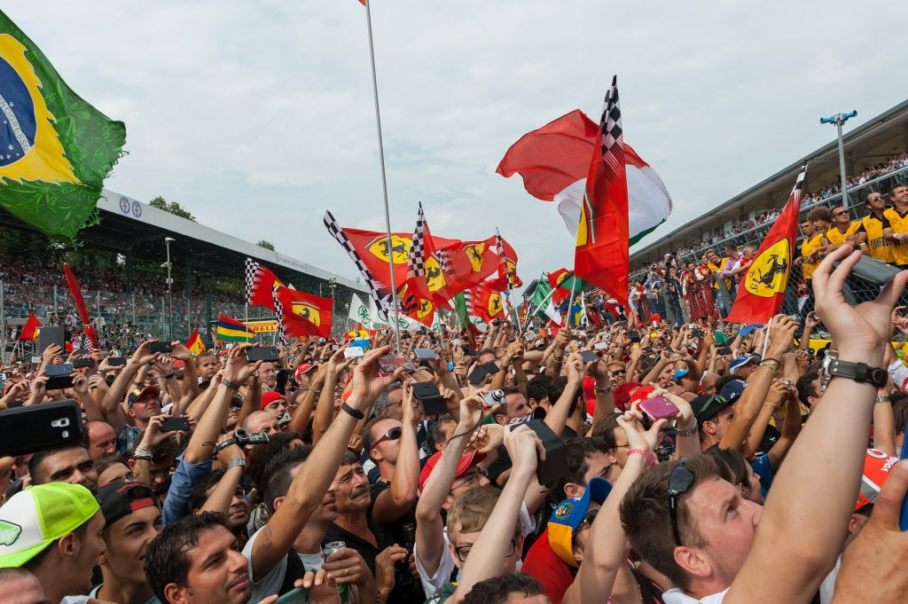Formula One races attract fans from all around the world.